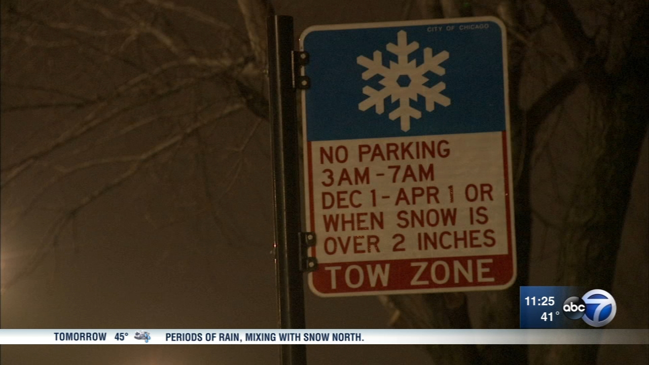 Chicagos winter overnight parking ban runs Dec. 1 to April 1.