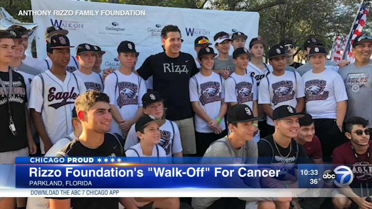 The Anthony Rizzo Family Foundation raised more than $1 million dollars in the fight against cancer.