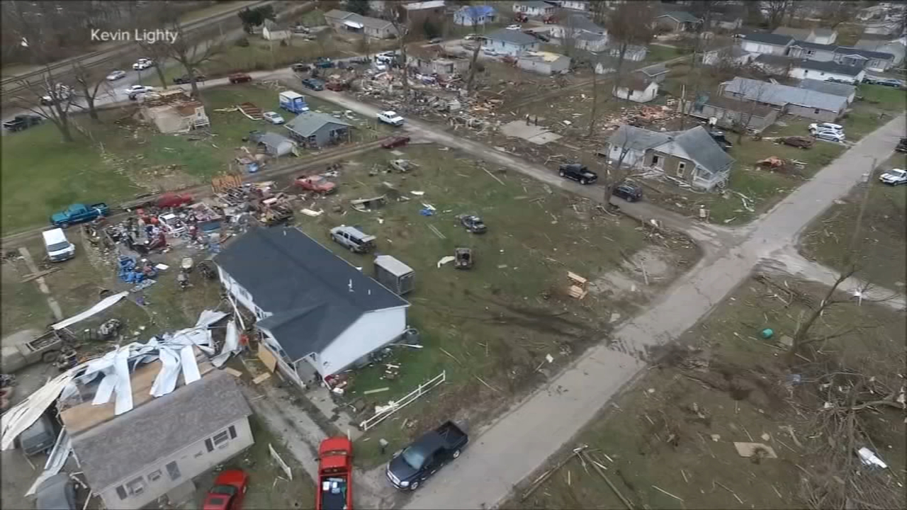 Dozens of people were hurt after at least twenty reported tornadoes touched down in Central Illinois over the weekend.