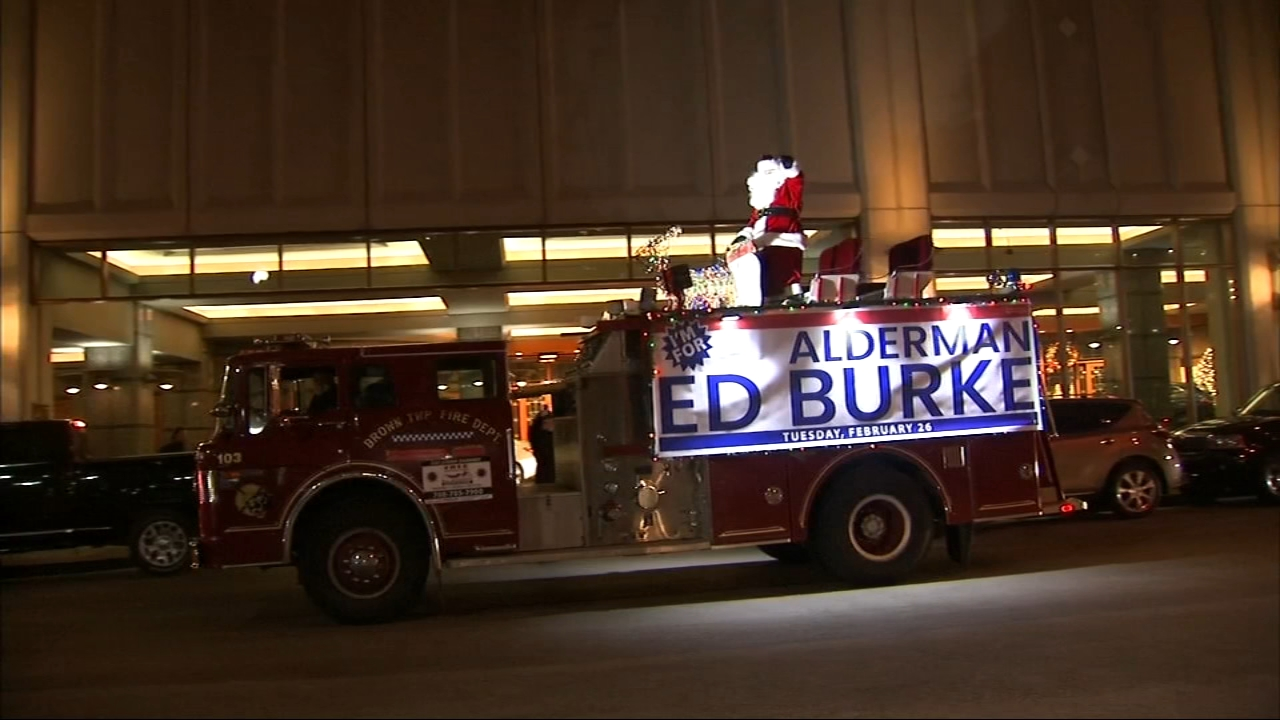 Chicago Ald. Ed Burke (14th Ward) held a Christmas party fundraiser at the Sheraton Hotel in Chicago, less than a week after the feds raided his offices.