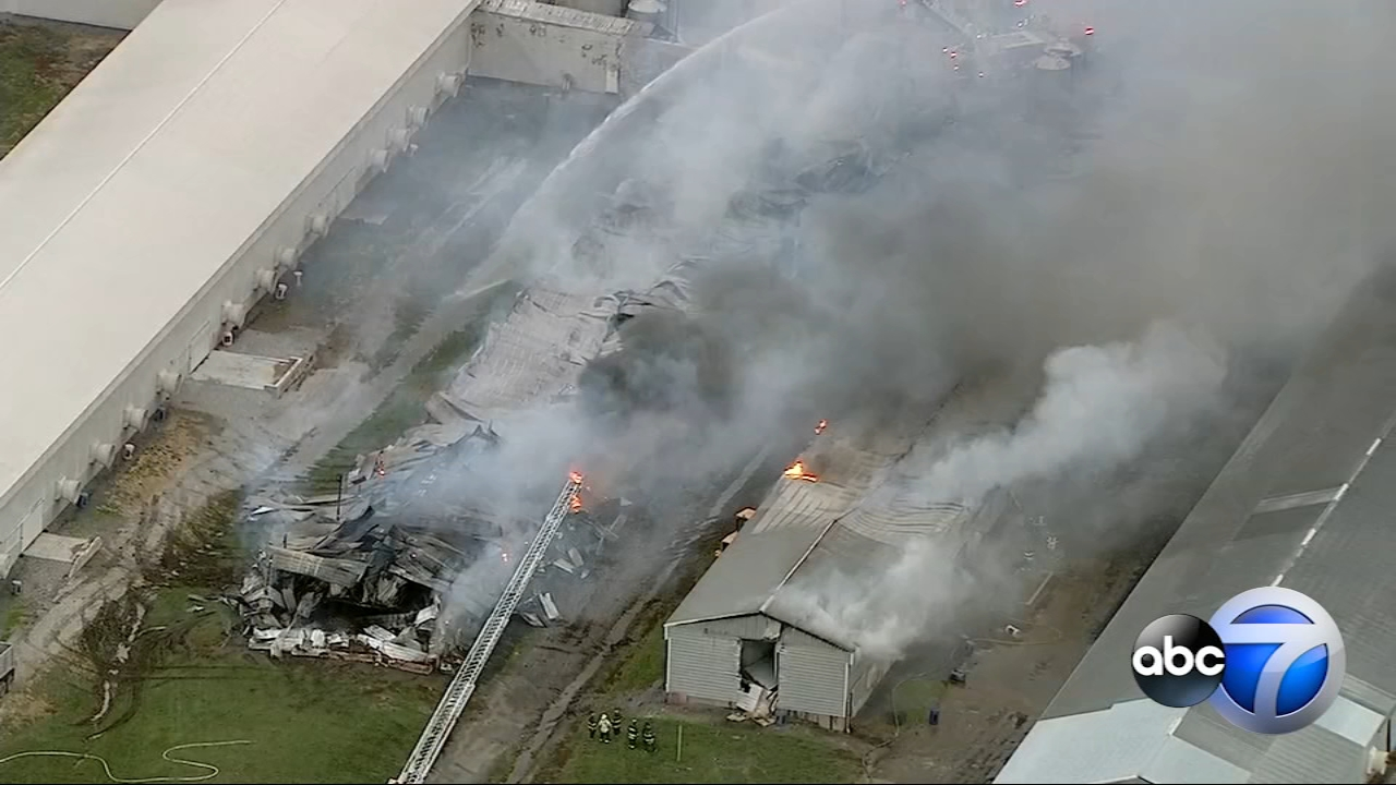 More than 50,000 hens were killed in a fire at an egg farm in Grant Park, Illinois.
