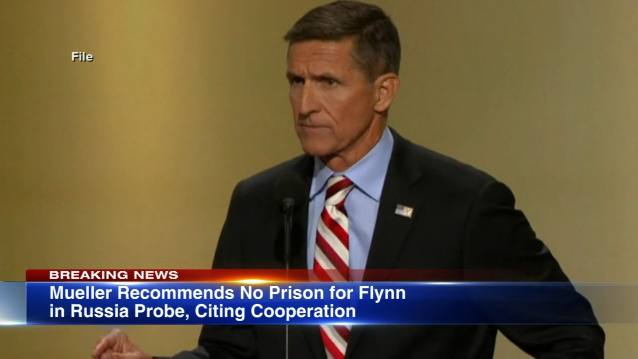 The special counsels office is calling Michael Flynns cooperation substantial and is recommending no prison time for the former Trump administration national security adviser.