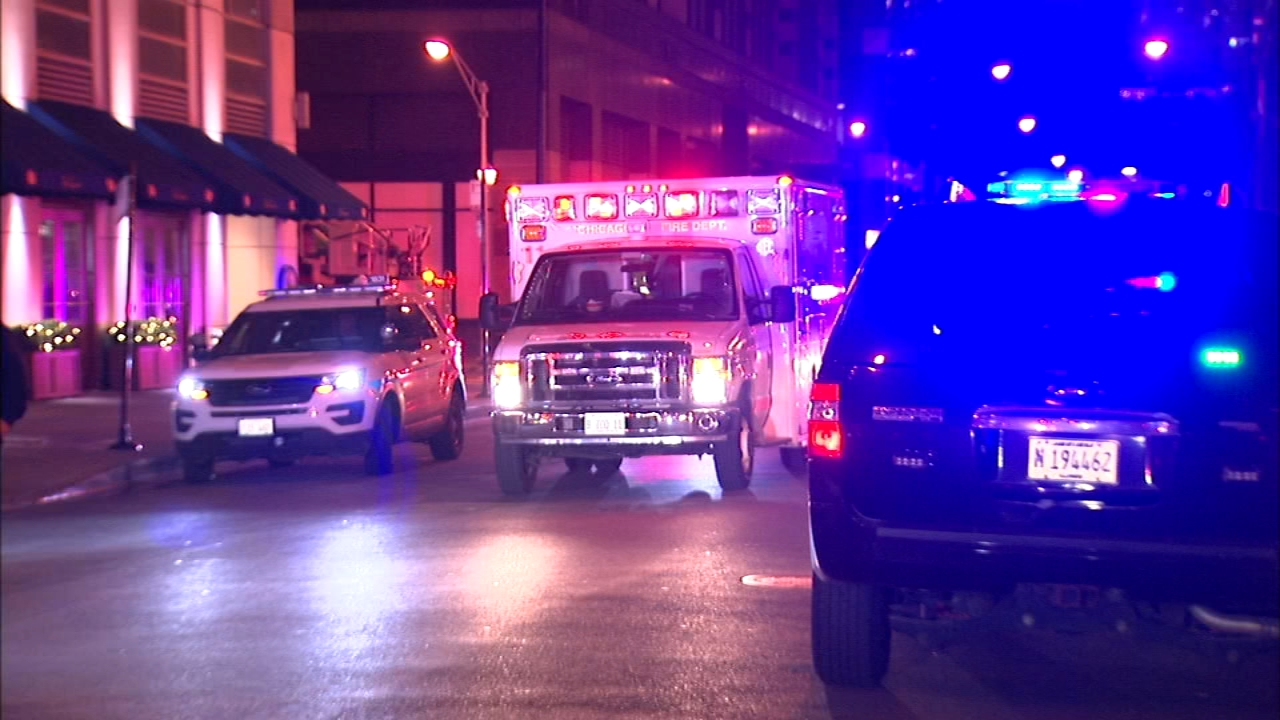 Three people were rushed to the hospital Tuesday night after someone released an irritant at the Peninsula Hotel in Chicago, authorities said.