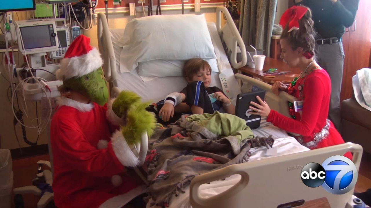 When a special visitor walked into Desmond Dillons hospital room, the 6-year-old learned he was in for a big surprise.