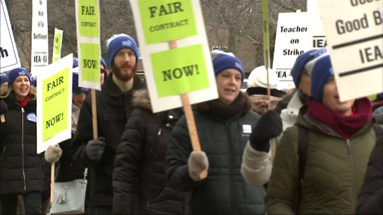 Wednesday is day two of a pair of teacher strikes impacting thousands of students in both in the City of Chicago and also in the suburbs.