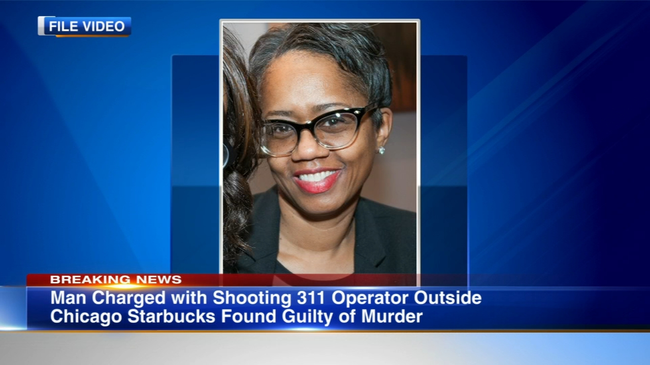 The man charged for a shooting that killed a 311 operator as she left a Starbucks in Bronzeville in 2016 was found guilty on Thursday.