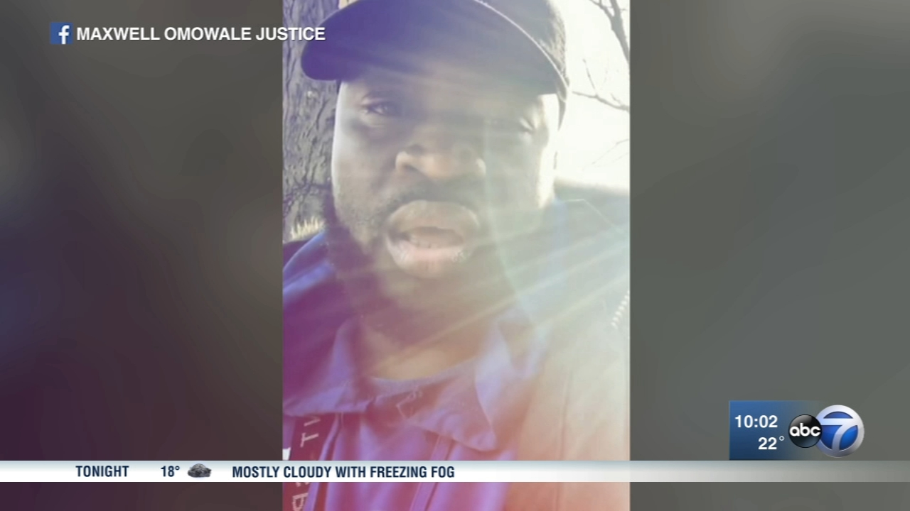 Maxwell Omowale Justice was going door-to-door when he was shot in the leg in the West Englewood neighborhood.