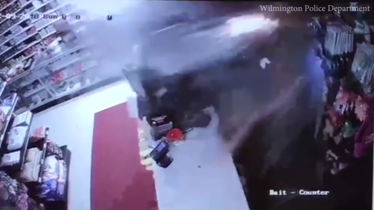 Surveillance video captured the crash just after 2 a.m. Sunday at Angelos Outdoor Sports Center.