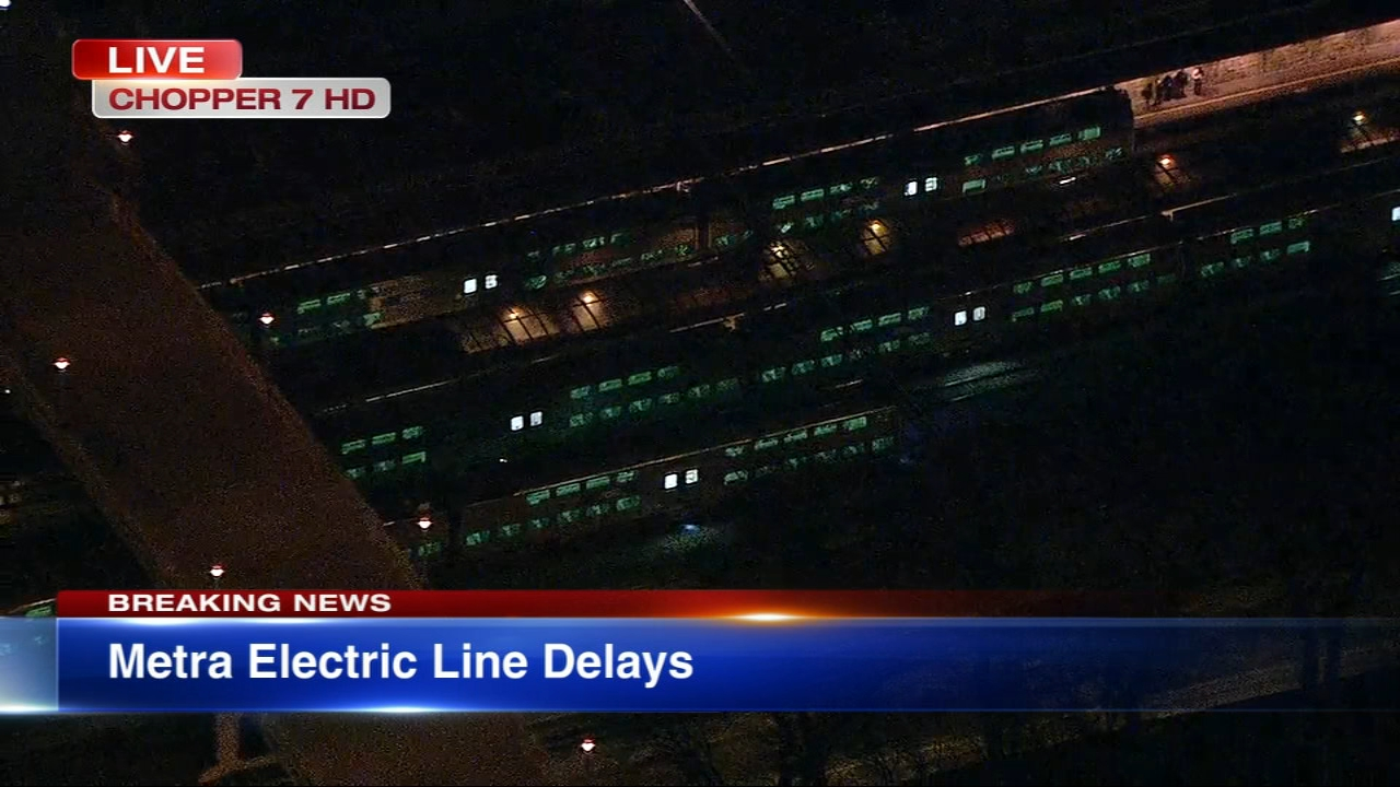 Metra Electric train 705, which was scheduled to leave Millennium Station at 5:02 p.m., will not operate Monday night due to downed wires.