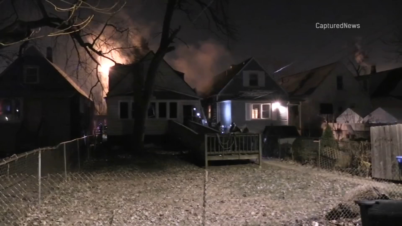 A house fire in West Englewood left two adults seriously injured Tuesday morning.