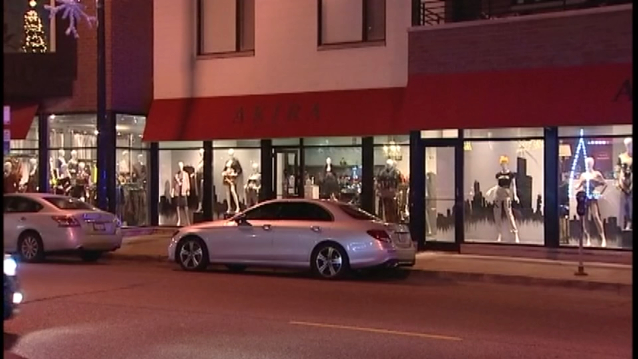 A group of thieves who stole from a Bucktown clothing store pepper-sprayed two employees who tried to stop them Monday night, Chicago police said.