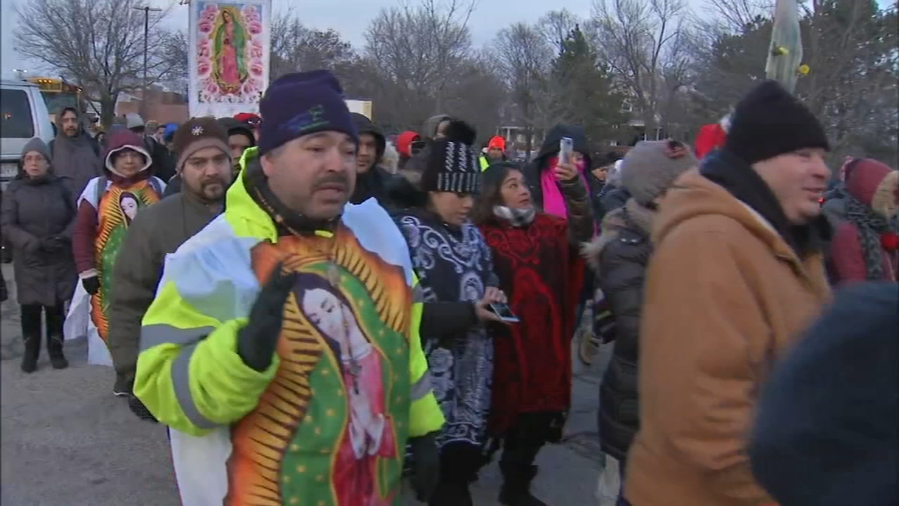 Hundreds of thousands of Catholic pilgrims are expected in north suburban Des Plaines for the annual feast of Our Lady of Guadalupe.