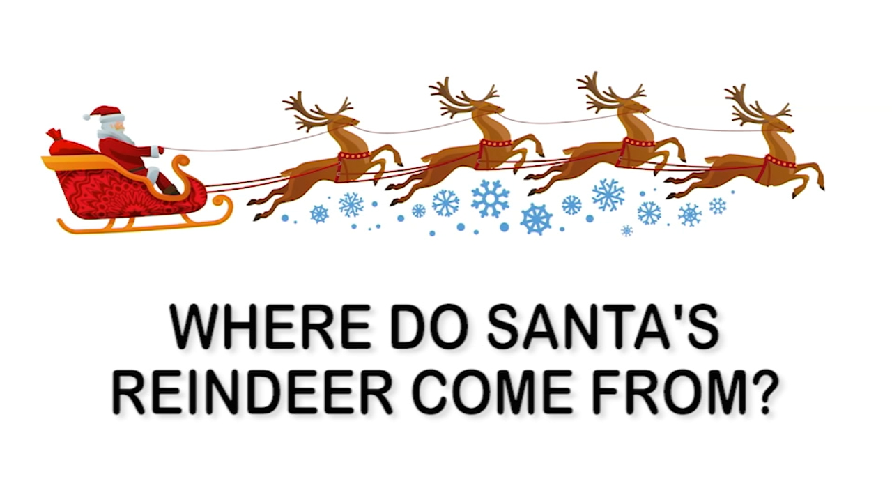 Heres the story behind Santas reindeer and how they got their names.