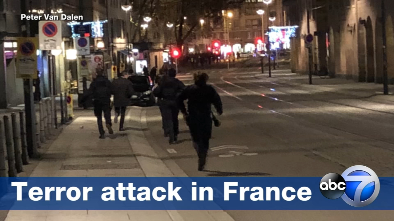 French prosecutors say a terror investigation has been opened into the shooting at a Christmas market in Strasbourg that has left two dead and up to eight wounded, including severa