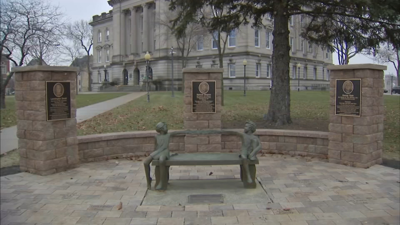 A controversial monument was unveiled Thursday in Kankakee.