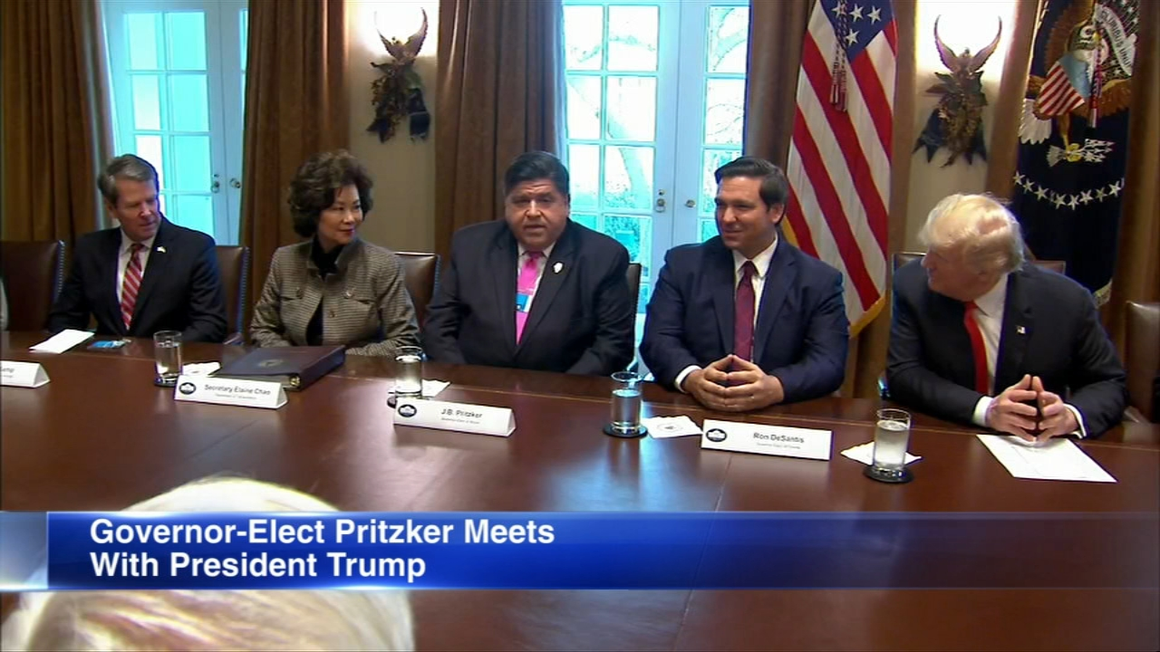 Illinois governor-elect JB Pritzker joined other incoming governors in Washington, D.C., to meet with President Trump.