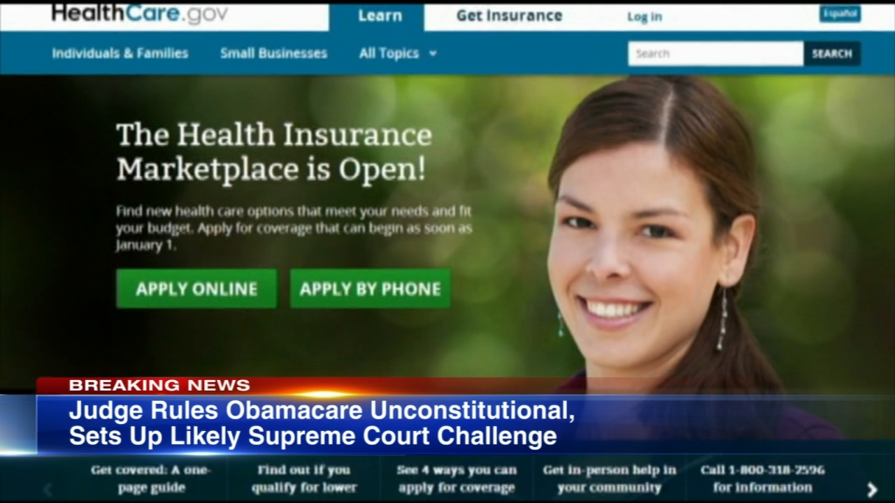 A federal judge in Texas said on Friday that the Affordable Care Acts individual coverage mandate is unconstitutional and that the rest of the law must also fall.