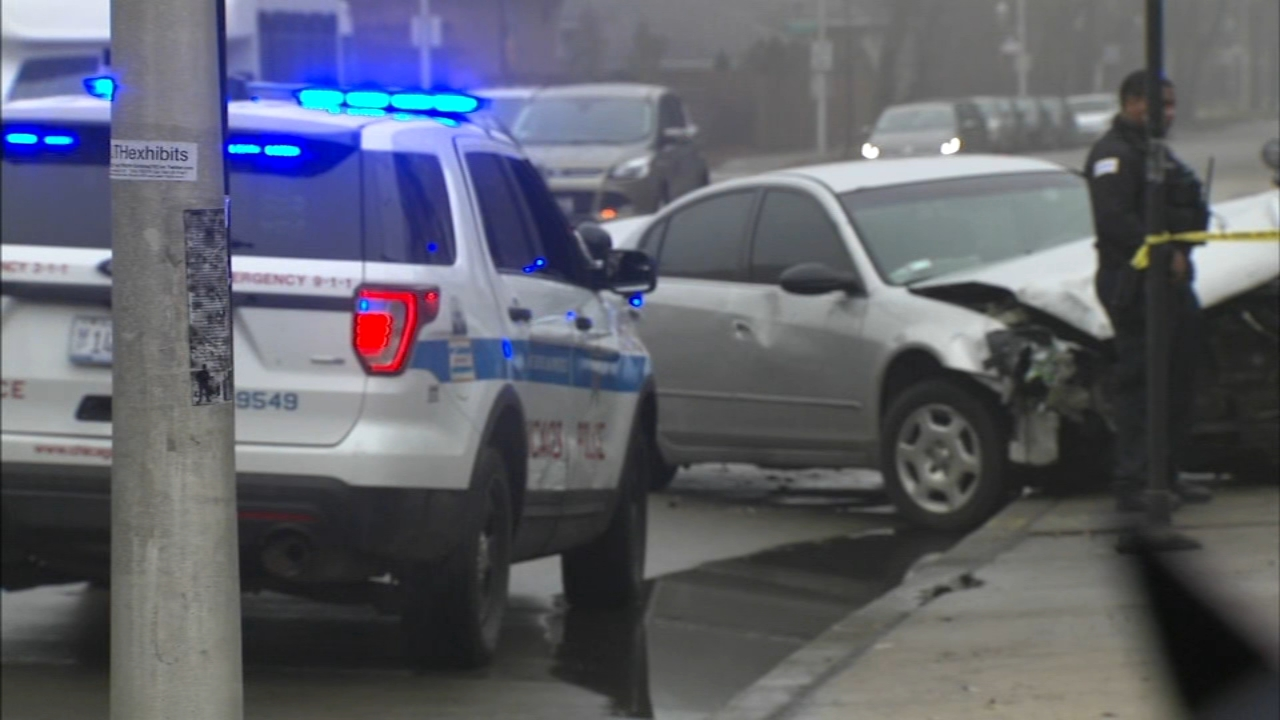 A four-year-old boy who was standing on a sidewalk with his mother was critically injured in a multi-vehicle crash in the South Shore neighborhood Friday morning, Chicago police sa