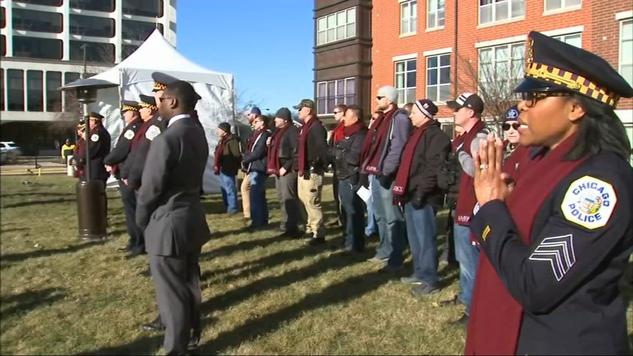 Amid sounds of grief, first responders and medical professionals gathered on Saturday with the community in a ceremony of reflection and renewal for those killed last month in the