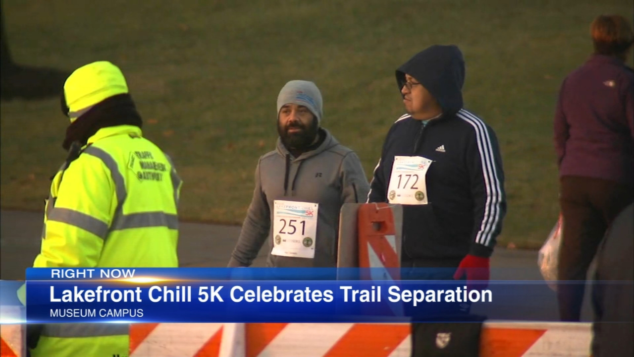 A 5K was held to celebrate the completion of the Lakefront Trail Separation Project.