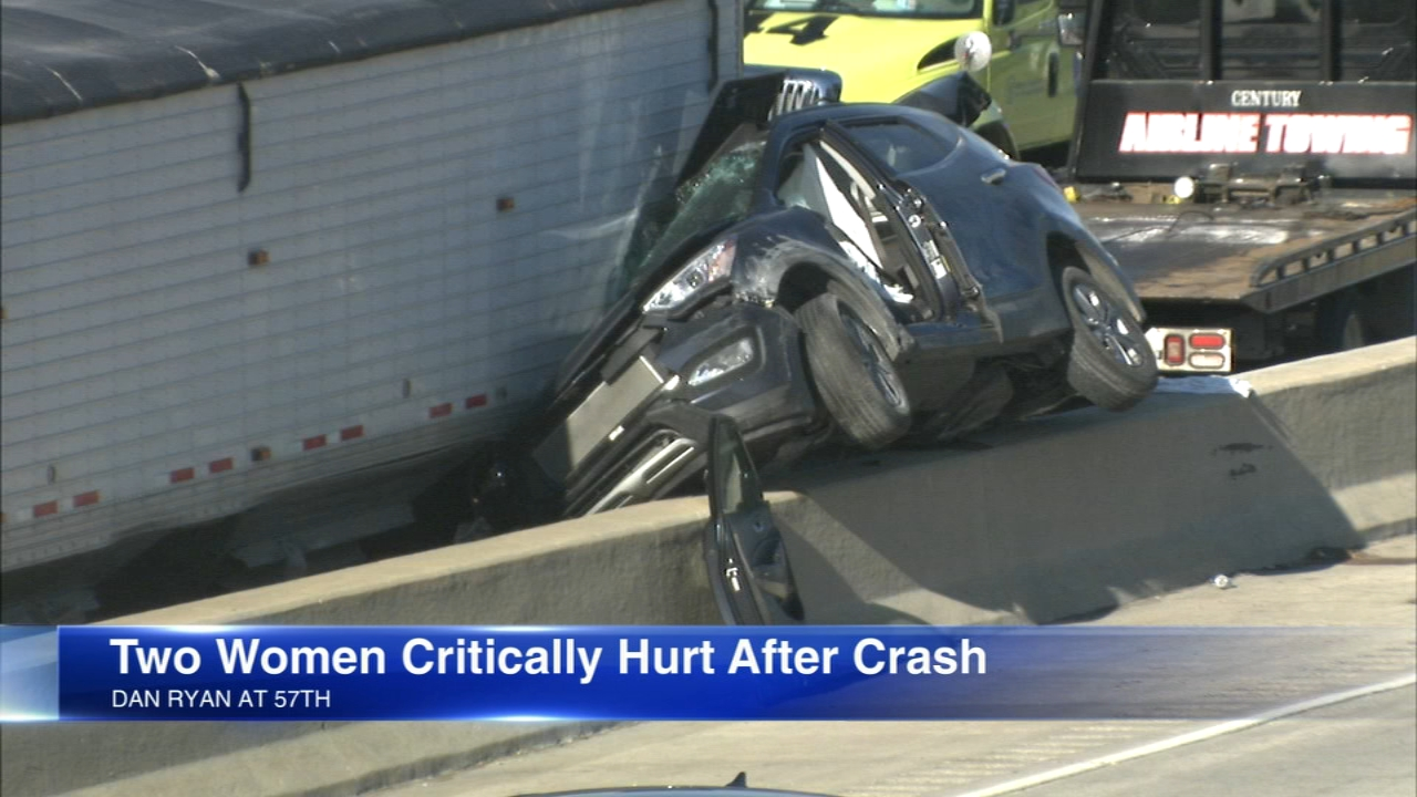Two women, ages 44 and 71, were critically injured in a crash involving a semi and two vehicles on the Dan Ryan Expressway.