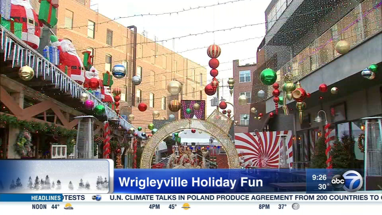 Wrigleyville isnt just for baseball. The neighborhood is decked out for the holidays this year with festive pop-up bars and a Winter Wonderland.