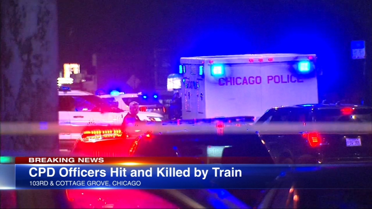 Two Chicago police officers were struck and killed by a South Shore Line train Monday evening on Chicagos South Side, police said.