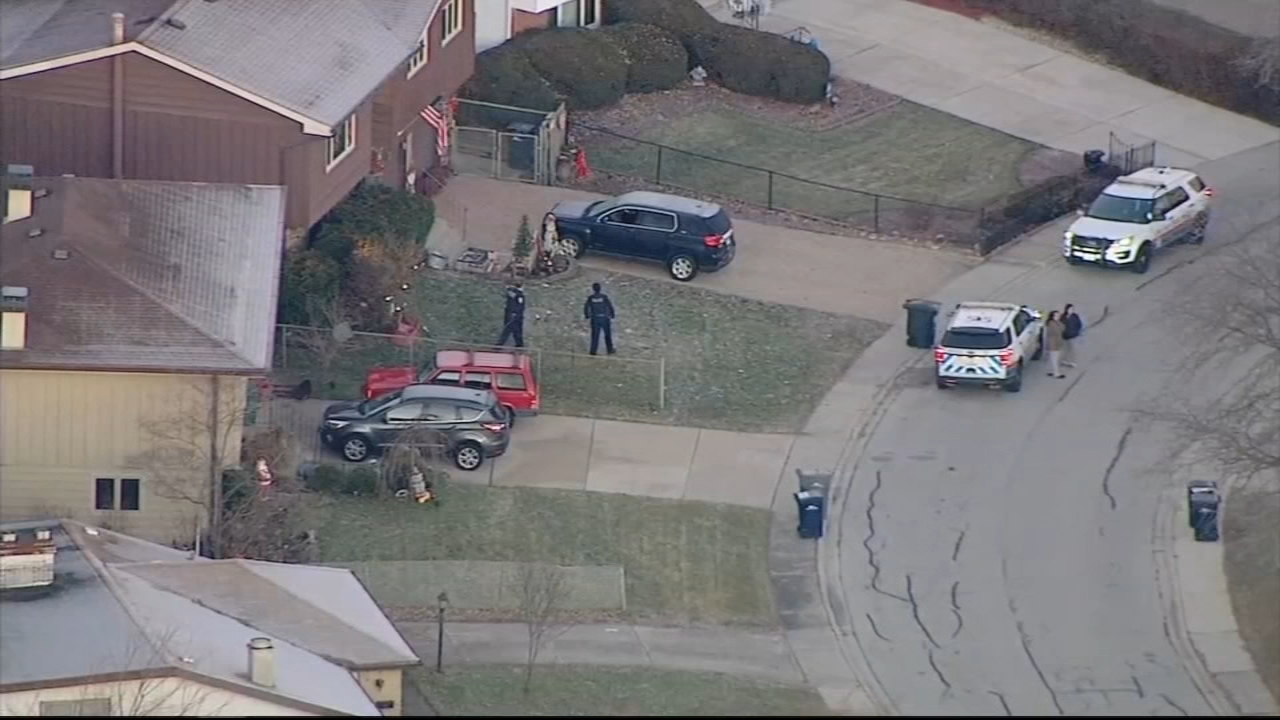 A search for a pair of carjacking suspects led police through the backyards of homes in Orland Park Monday morning.