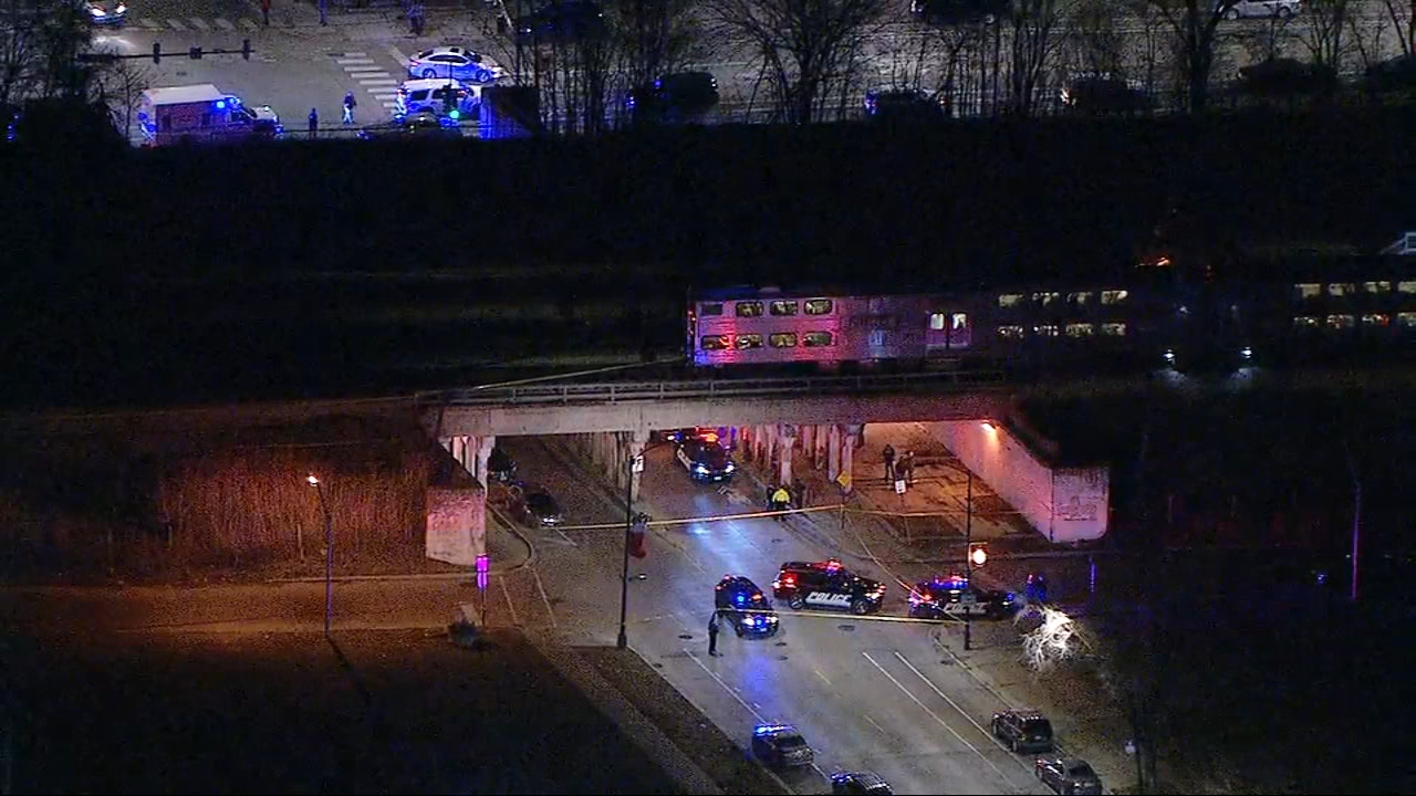 Two people were struck by a South Shore train on Chicago's South Side.
