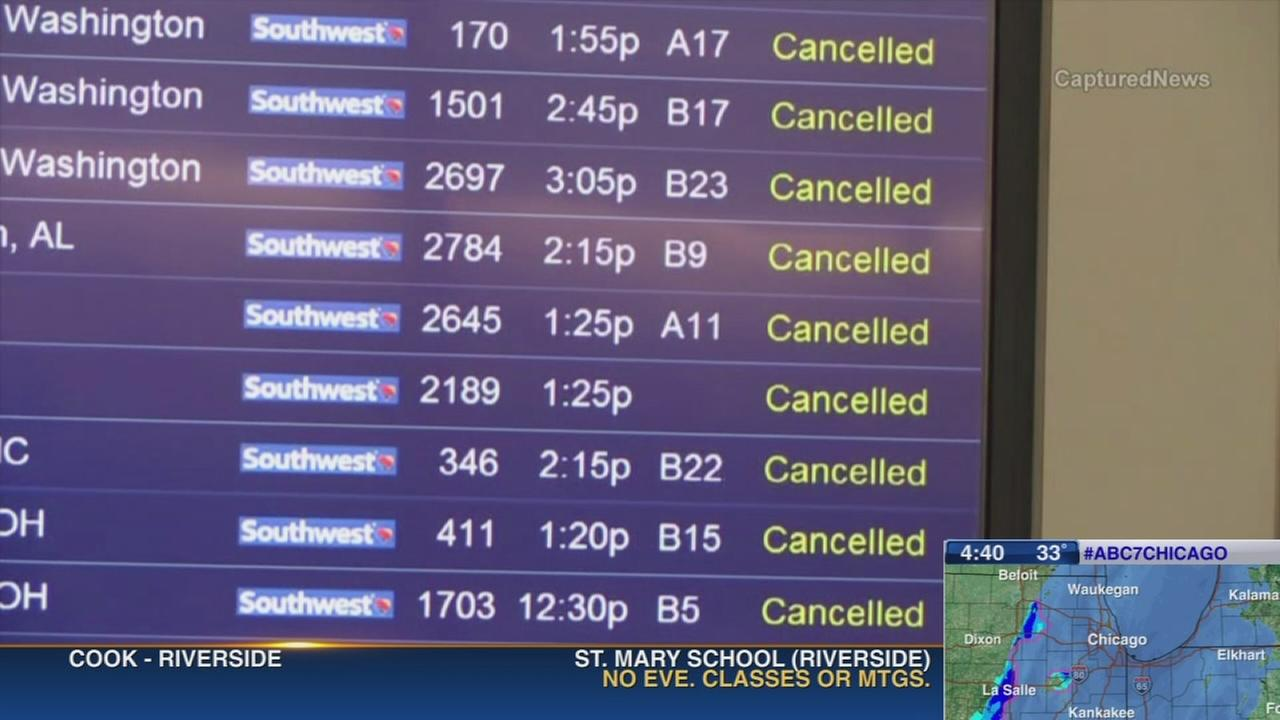 Weather causes airport delays, cancellations