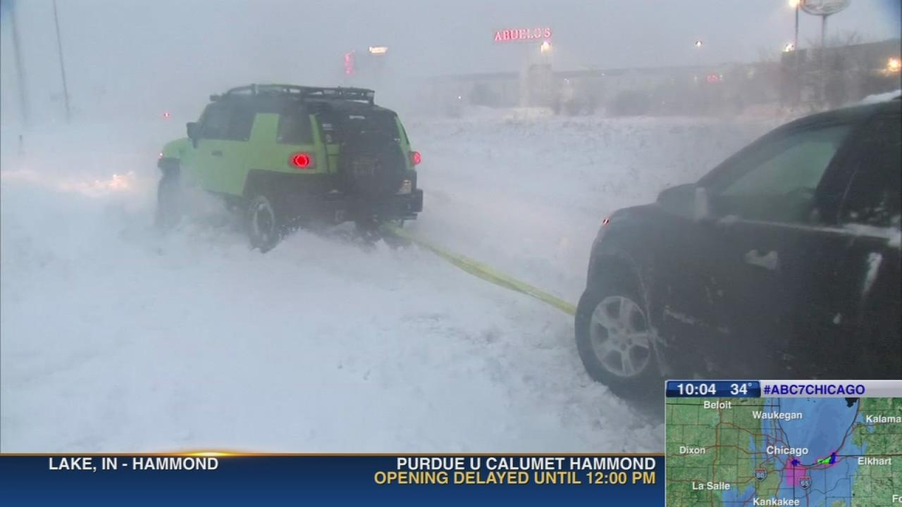 Blizzard in northwest Indiana