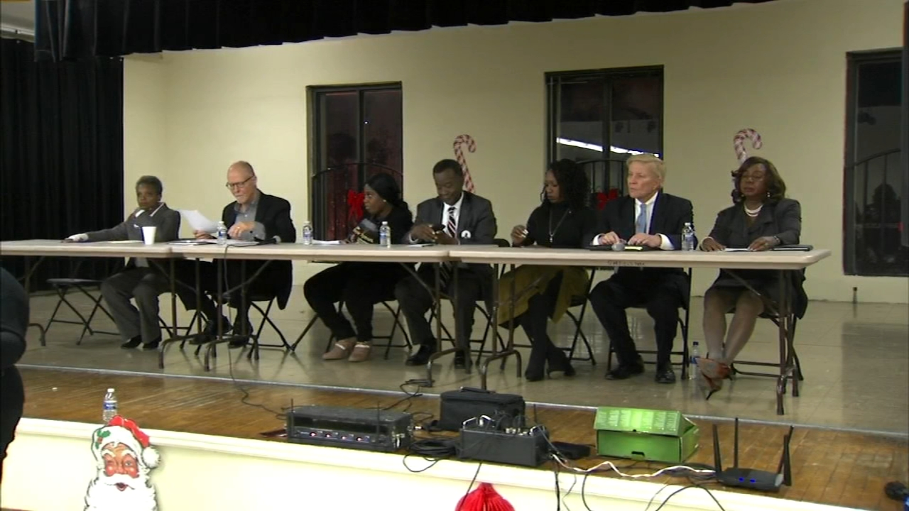 Several Chicago mayoral candidates discussed violence, employment and how they want the city to develop economically during a forum on Monday night.