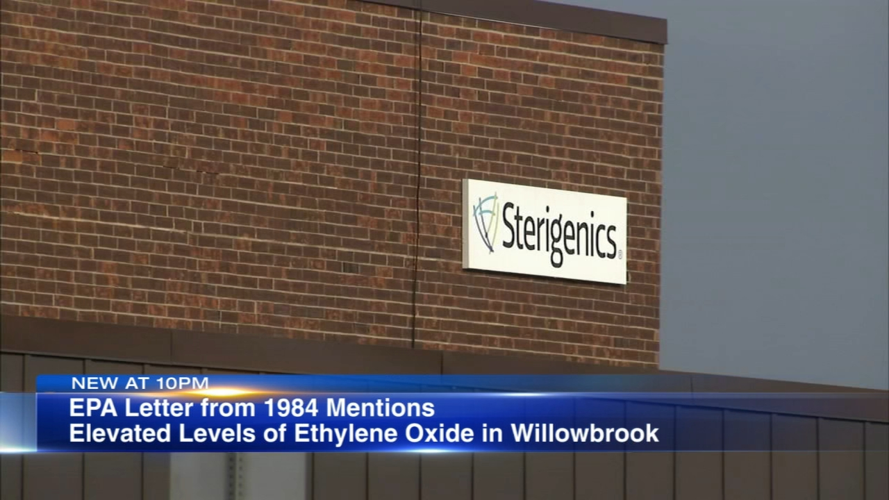 A community group said the EPA has known about the emissions of a cancer-causing chemical from what is now the Sterigenics plant in Willowbrook since 1984.