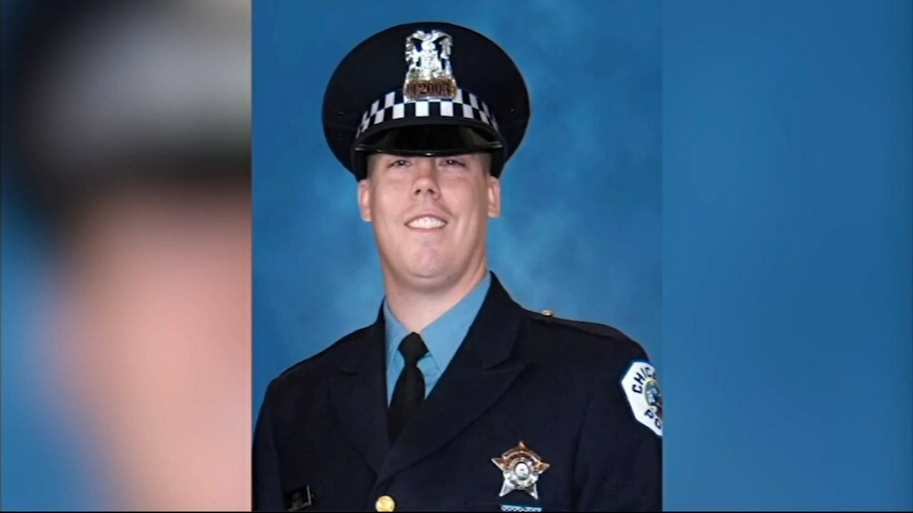 A wake was held Thursday for one of the two Chicago police officers hit and killed by a train on Monday evening.
