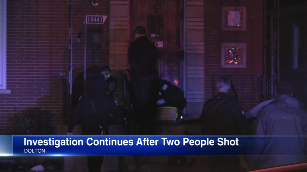 Two people are in critical condition after being shot early Thursday morning at a home in south suburban Dolton.