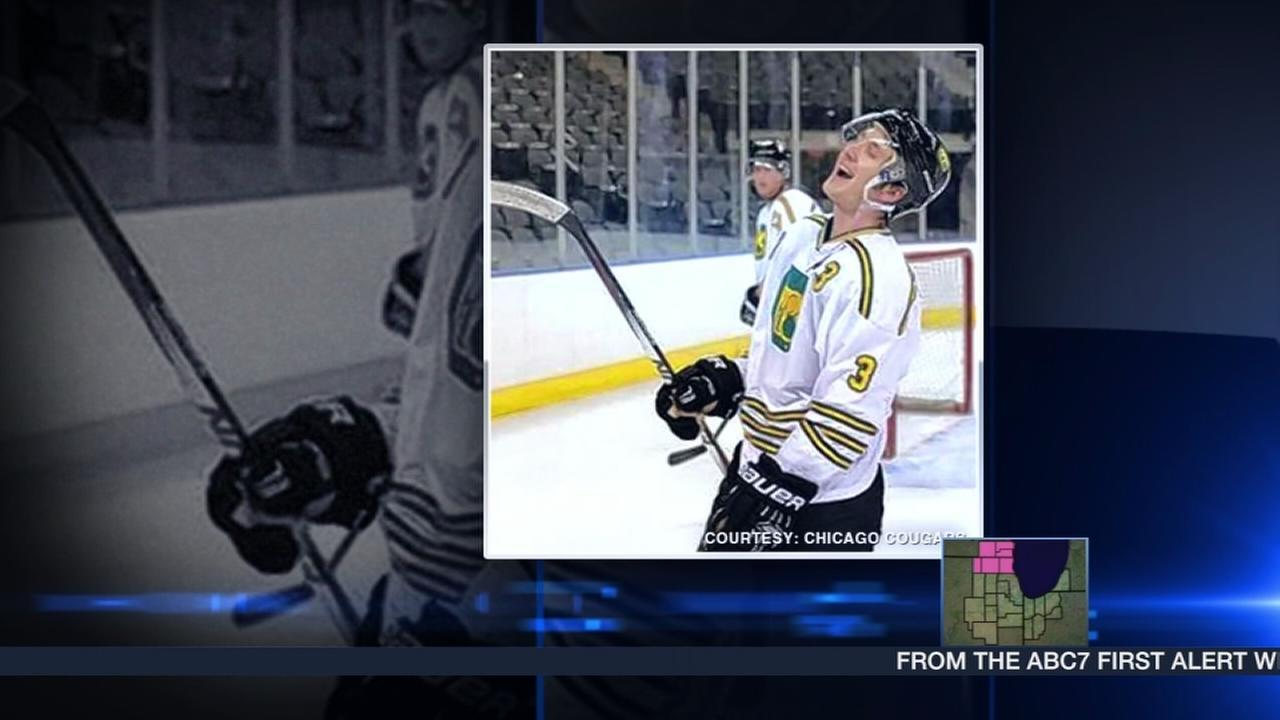 Junior hockey team raises money for paralyzed teammate