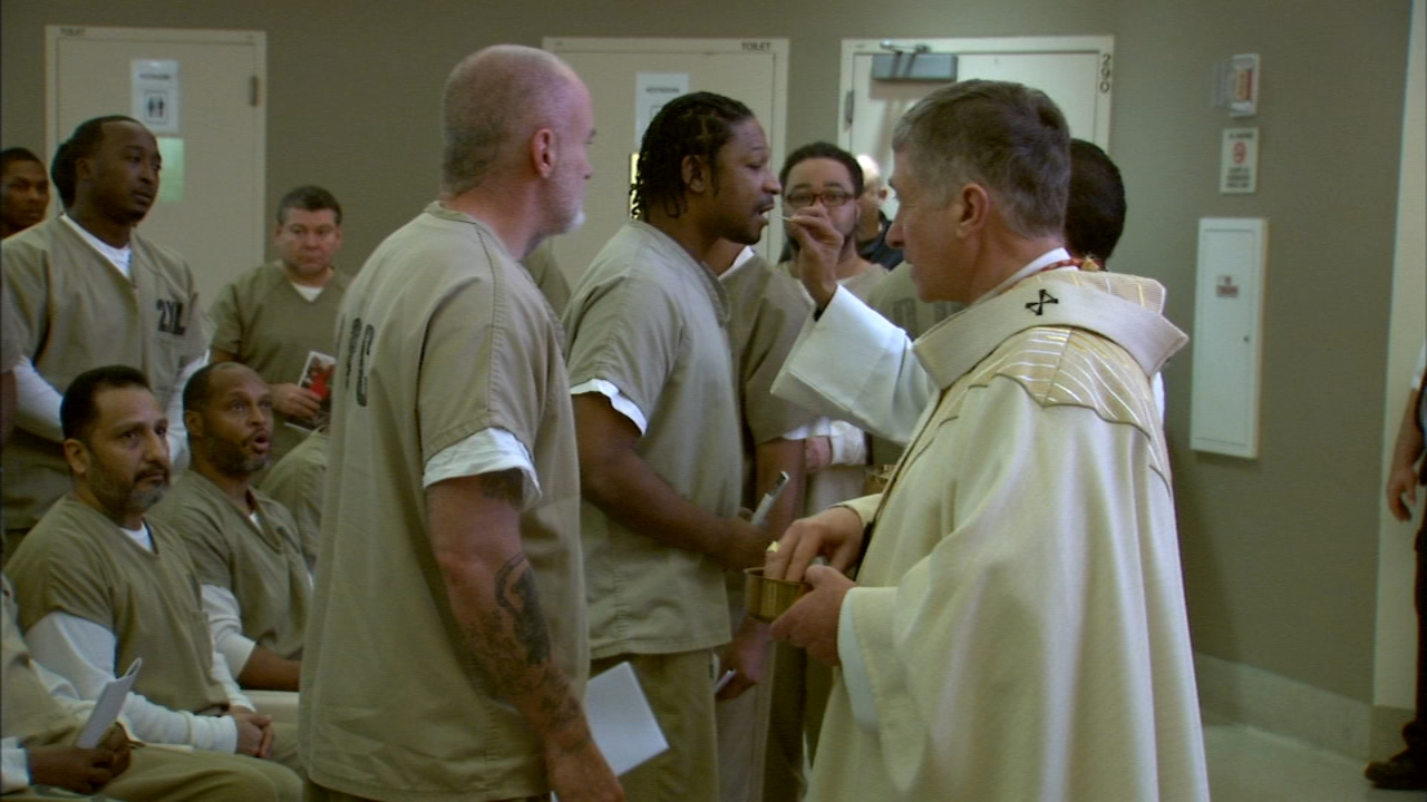 Cardinal Blase Cupich visited with inmates at the Cook County Jail and led a special mass there on Christmas Day.