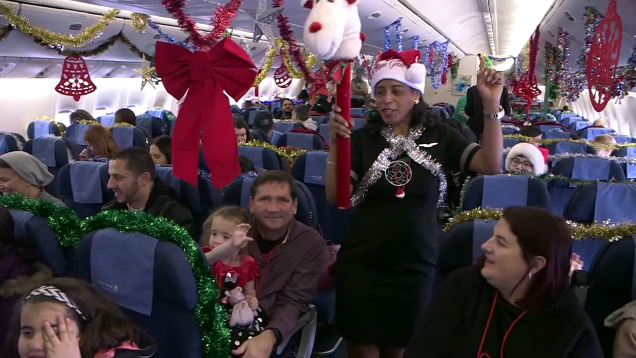 Chicago-based United Airlines helped make a Christmas wish come true for dozens of worthy kids.