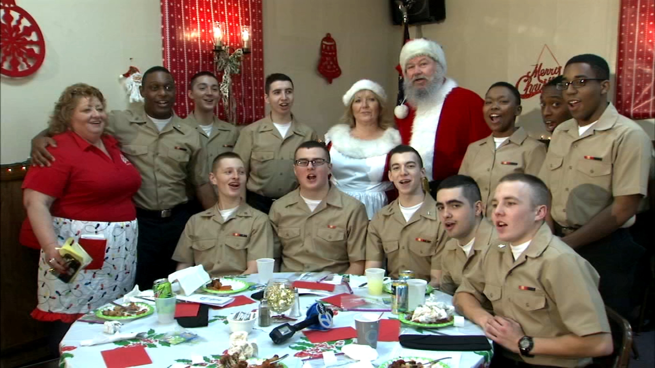 The Elks Lodge in Whiting, Indiana, hosted their annual Christmas meal for future Navy sailors spending the holiday away from home.