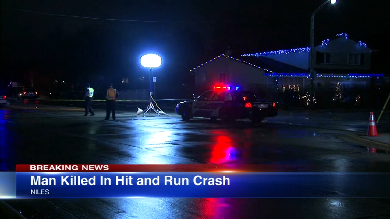A 72-year-old man was struck and killed by a car Thursday evening in north suburban Niles, police said.