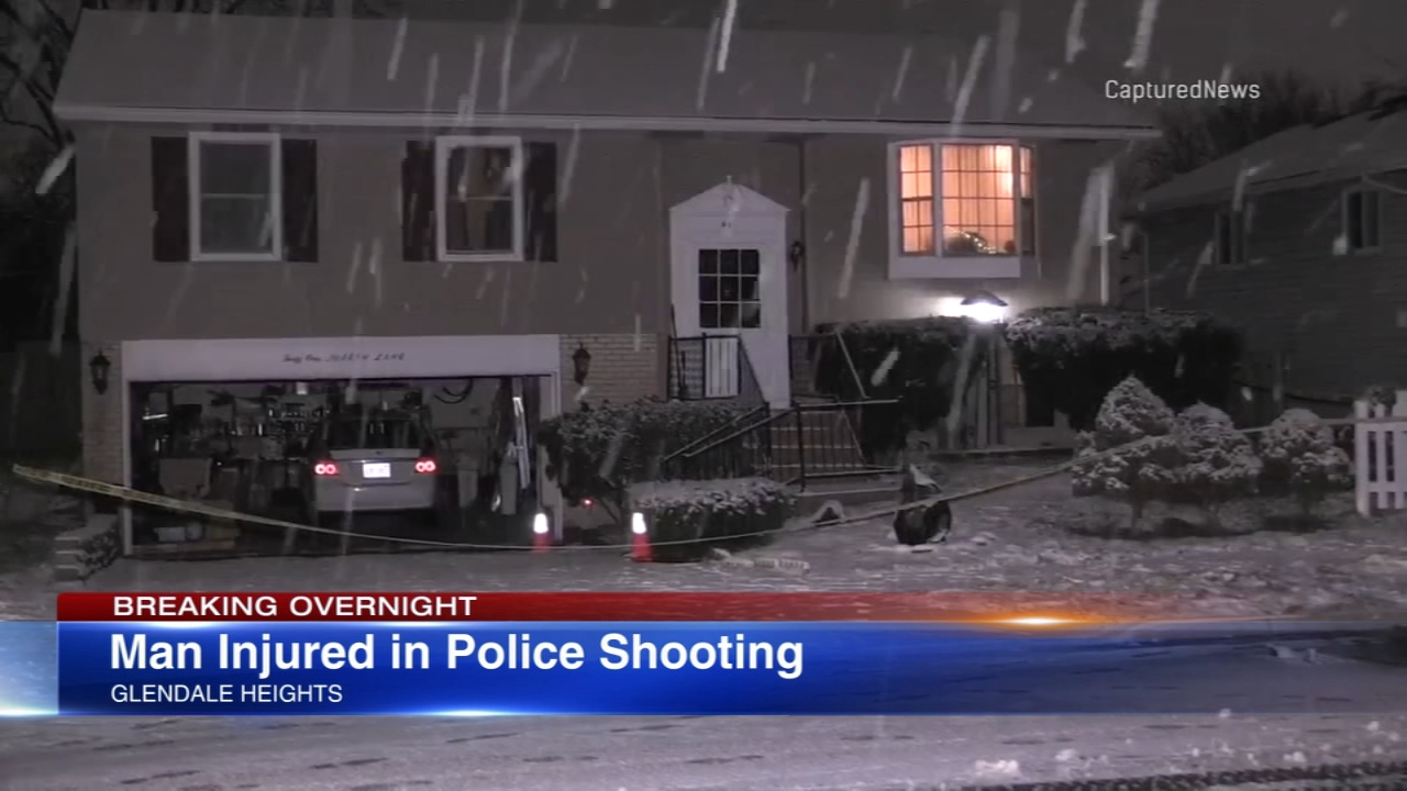 A man was shot in Glendale Heights when he refused to drop two knives.