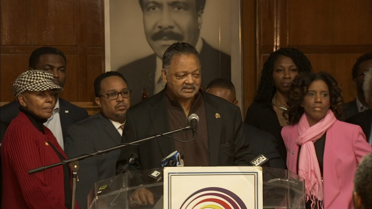 The Rev. Jesse Jackson, of the Rainbow Push Coalition, and other Chicago officials spoke Saturday about their concerns that people of color would be under-counted in the 2020 Censu