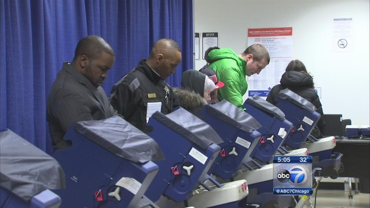 Strong early voting turnout in Cook County