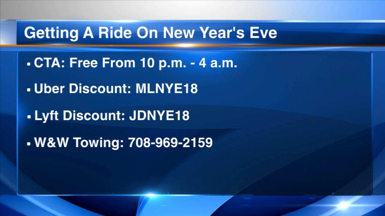 The CTA is once again offering free rides on new Years Eve.