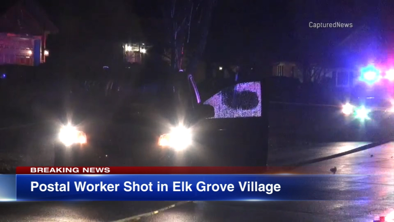 A U.S. Postal Service worker was shot in Elk Grove Village Monday evening, police said.