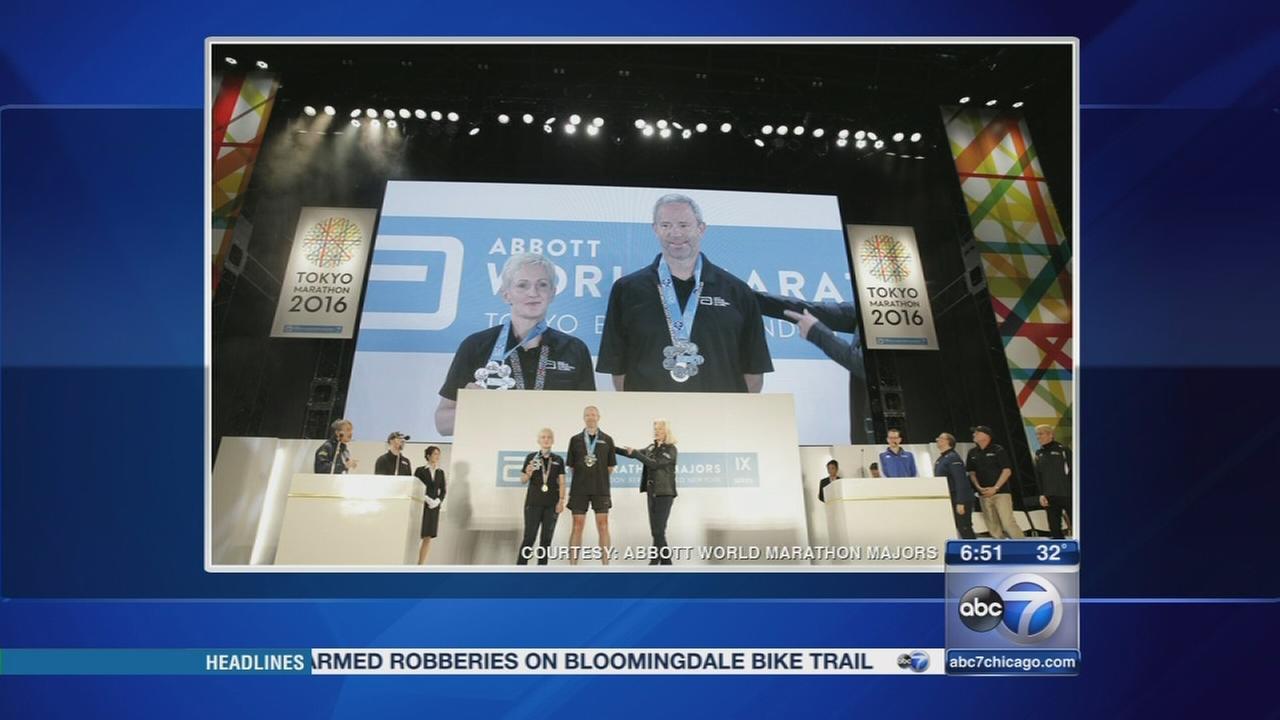 Lake Bluff marathoner wins first six-star medal
