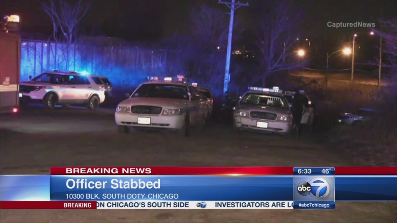 Officer stabbed at South Side auto pound