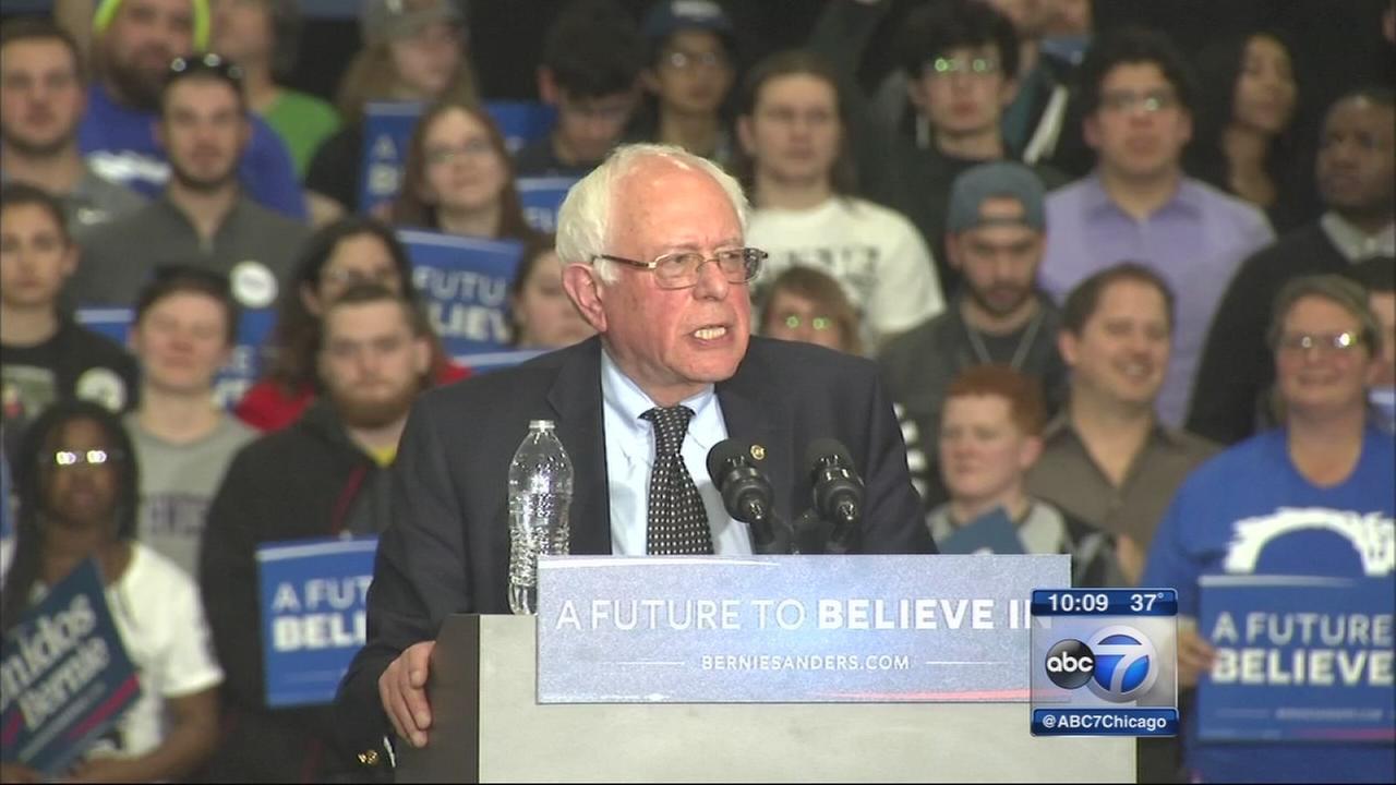 Bernie Sanders holds rally in Summit