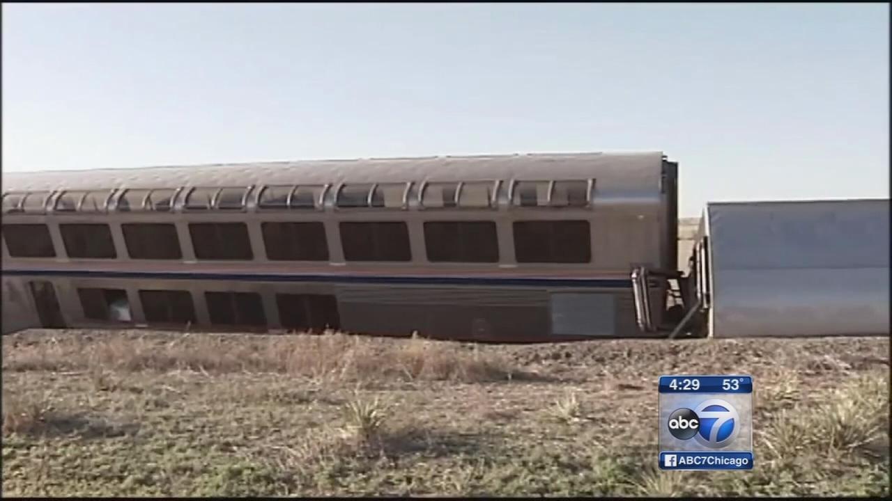 Chicago-bound Amtrak train derails in Kansas; at least 32 injured