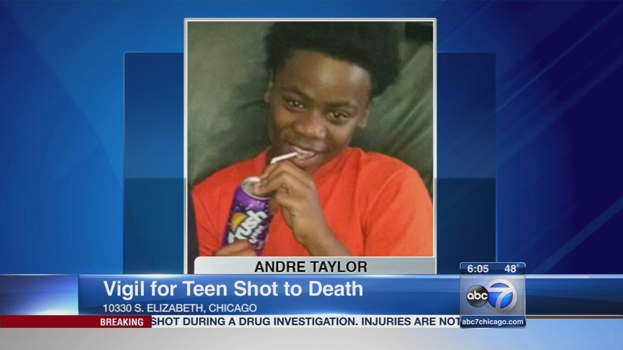 Vigil held for teen killed in Rosemoor